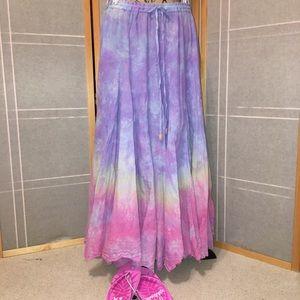 Dresses & Skirts - ➕💜💗Tie Dye Drawstring Summer Skirt (Cover Up) 1X
